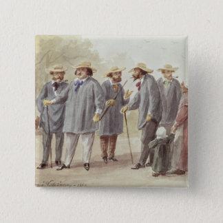 Balzac and Friends 2 Inch Square Button