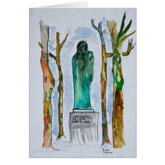 Balzac Statue by Rodin | Paris, France Card