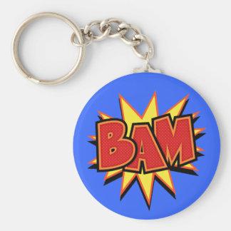 Bam-3 Basic Round Button Keychain