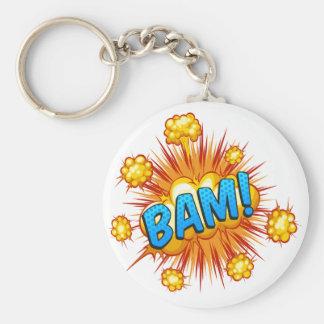 Bam Basic Round Button Keychain