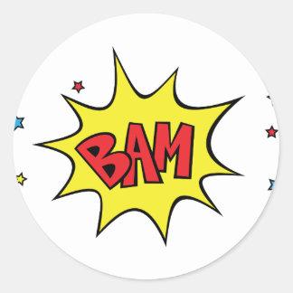 bam classic round sticker