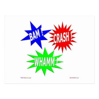 Bam Crash Whamm Postcard