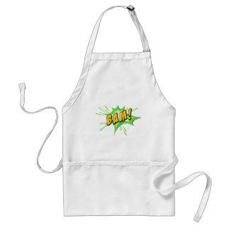 Bam flash on white standard apron
