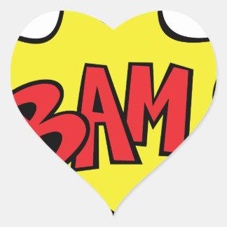 bam heart sticker