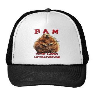 BAM! One less Grounhog! Anti groung hog tshirt! Trucker Hat