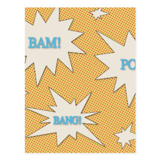 Bam! Pow! Bang! Comic Style Postcard