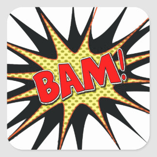 Bam! Square Sticker