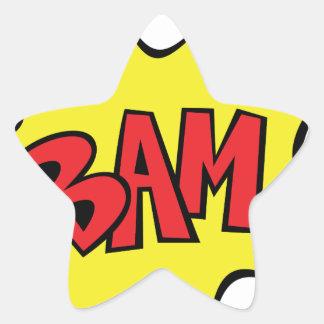 bam star sticker