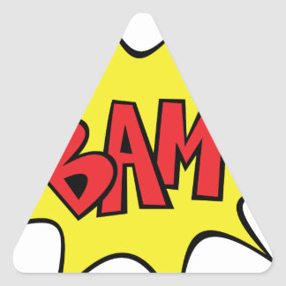 bam triangle sticker