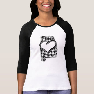Bama Heart Houndstooth T-Shirt