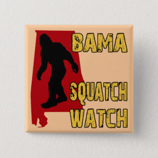 Bama Squatch Watch 2 Inch Square Button