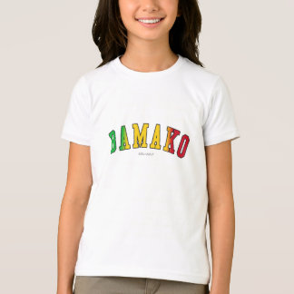 Bamako in Mali national flag colors T-Shirt