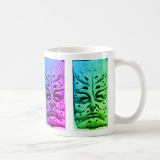 Bamberg Cathedral Green Man - colourful Coffee Mug