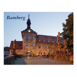 Bamberg on the Obere Bridge Postcard