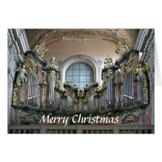 Bamberg organ Christmas card