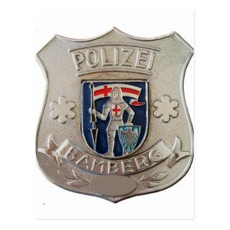 Bamberg Polizei Postcard