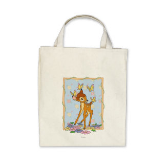 Bambi and Butterflies Canvas Bags