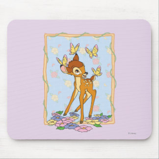 Bambi and Butterflies Mouse Pads