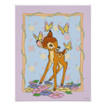 Bambi and Butterflies Poster