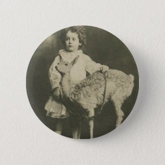 bambi and child 2 inch round button
