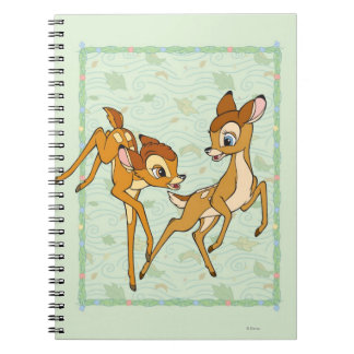 Bambi and Faline Spiral Note Books