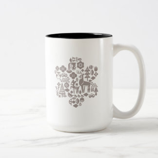 Bambi and Woodland Creatures Two-Tone Coffee Mug