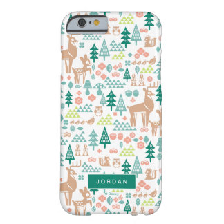 Bambi and Woodland Friends Pattern | Add Your Name Barely There iPhone 6 Case
