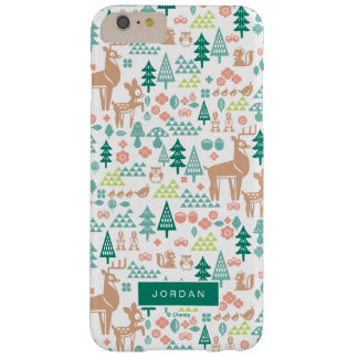 Bambi and Woodland Friends Pattern | Add Your Name Barely There iPhone 6 Plus Case
