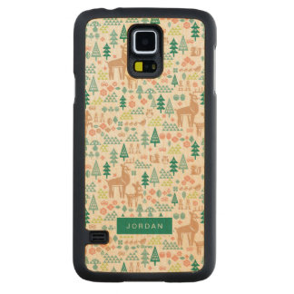 Bambi and Woodland Friends Pattern | Add Your Name Carved Maple Galaxy S5 Case