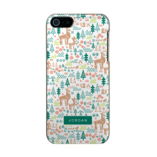 Bambi and Woodland Friends Pattern | Add Your Name Incipio Feather® Shine iPhone 5 Case