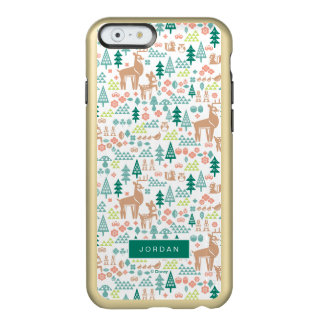 Bambi and Woodland Friends Pattern | Add Your Name Incipio Feather® Shine iPhone 6 Case