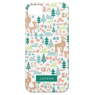 Bambi and Woodland Friends Pattern | Add Your Name iPhone 5 Covers