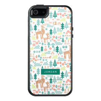 Bambi and Woodland Friends Pattern | Add Your Name OtterBox iPhone 5/5s/SE Case