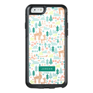 Bambi and Woodland Friends Pattern | Add Your Name OtterBox iPhone 6/6s Case
