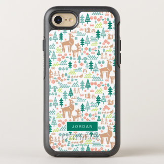Bambi and Woodland Friends Pattern | Add Your Name OtterBox Symmetry iPhone 8/7 Case