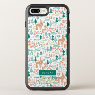 Bambi and Woodland Friends Pattern | Add Your Name OtterBox Symmetry iPhone 8 Plus/7 Plus Case