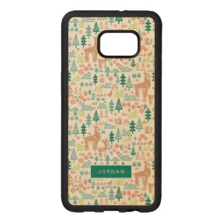 Bambi and Woodland Friends Pattern | Add Your Name Wood Samsung Galaxy S6 Edge Case