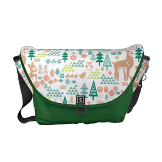 Bambi and Woodland Friends Pattern Courier Bag