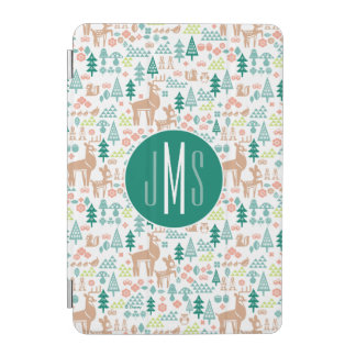 Bambi and Woodland Friends Pattern | Monogram iPad Mini Cover