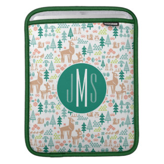 Bambi and Woodland Friends Pattern | Monogram iPad Sleeve