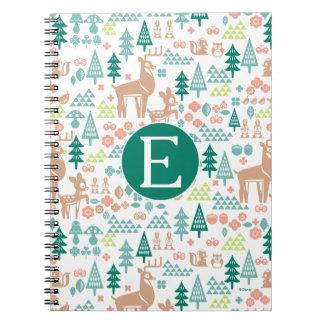 Bambi and Woodland Friends Pattern | Monogram Notebook