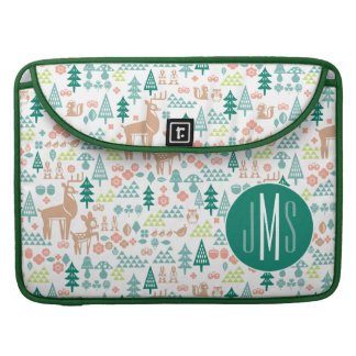 Bambi and Woodland Friends Pattern | Monogram Sleeve For MacBook Pro