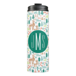 Bambi and Woodland Friends Pattern | Monogram Thermal Tumbler
