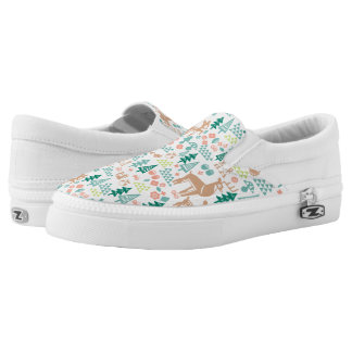 Bambi and Woodland Friends Pattern Slip-On Sneakers