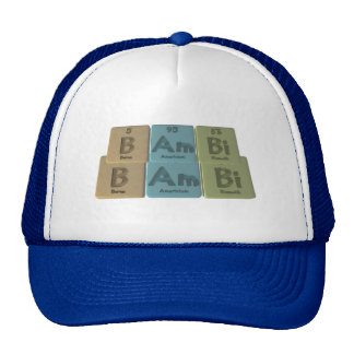 Bambi as Boron Americium Bismuth Hat