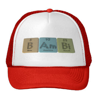 Bambi as Boron Americium Bismuth Trucker Hats