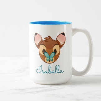Bambi Emoji Two-Tone Coffee Mug