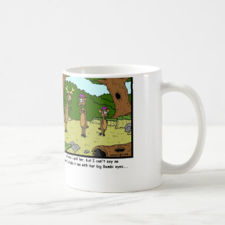 Bambi Eyes: Deer Cartoon Coffee Mugs