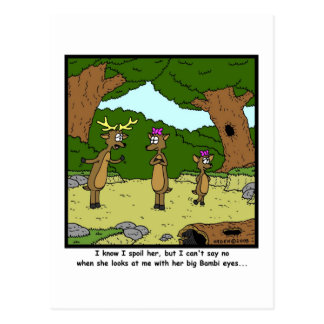 Bambi Eyes: Deer Cartoon Postcard
