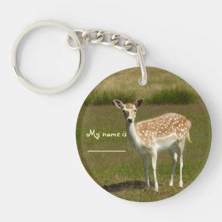 'Bambi' Double-Sided Round Acrylic Keychain